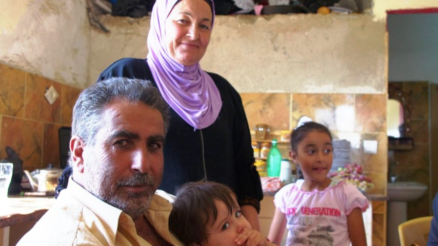 1. Ali Salah and family after a hummus breafast in al -khadar village on the West Bank