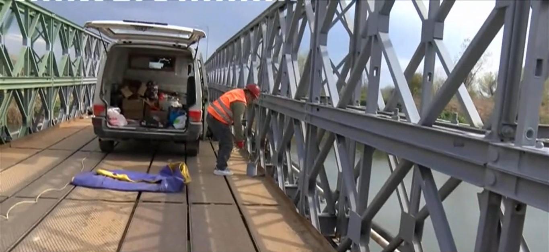 Εργασίες αποκατάστασης στη γέφυρα Ελεούσας στη Χαλκηδόνα Θεσσαλονίκης - ertnews.gr