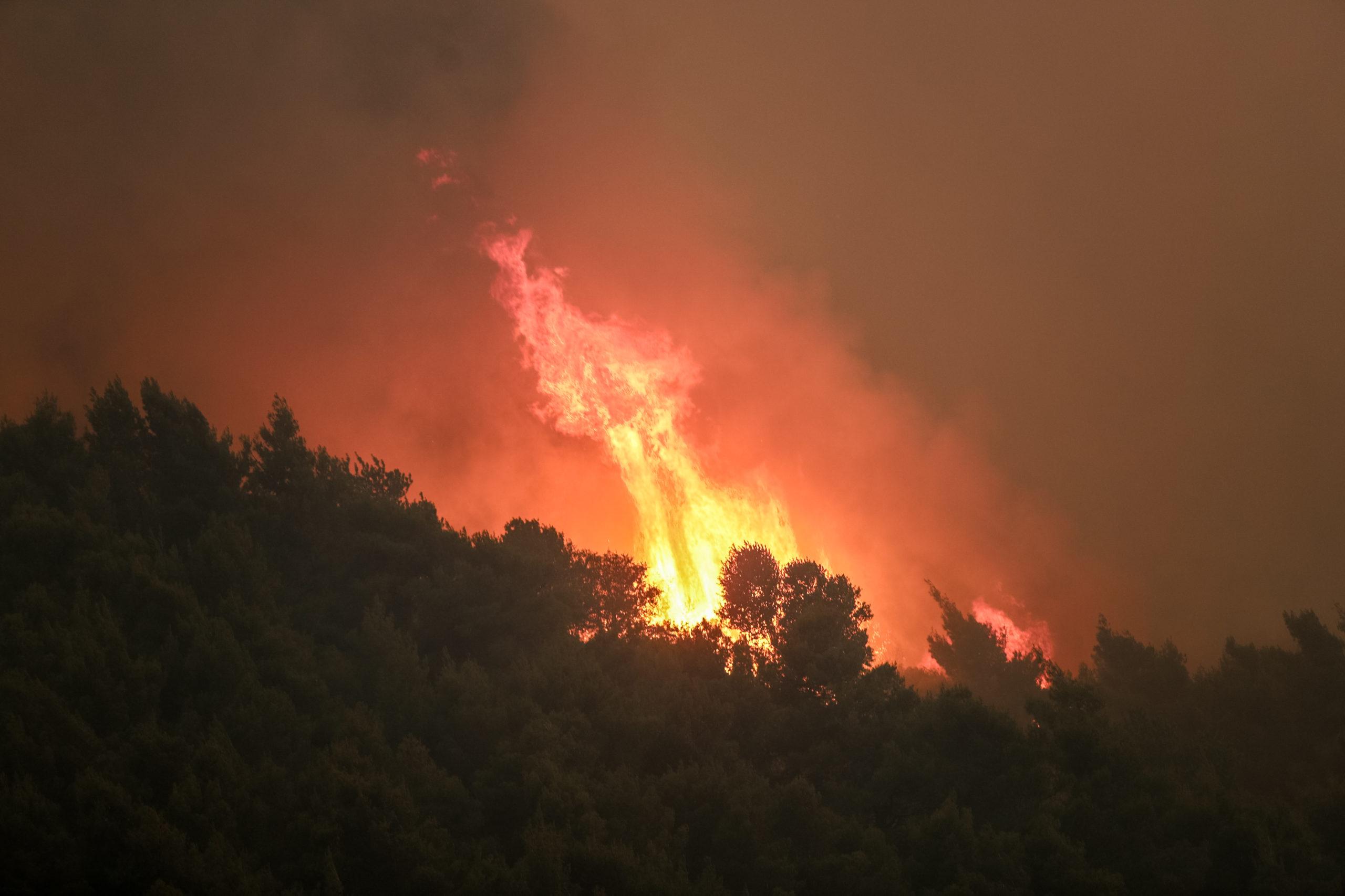 Κερδύλια Σερρών: Μάχη με τις φλόγες για την κατάσβεση μεγάλης πυρκαγιάς