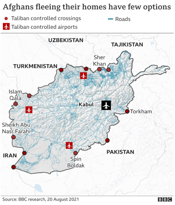 bbc afghanistan map