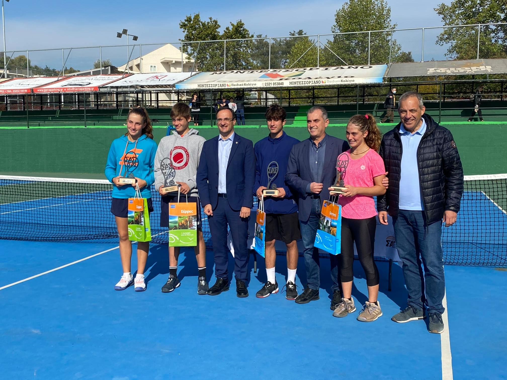 Σέρρες: Με γαλανόλευκο χρώμα τα μετάλλια στο Ευρωπαϊκό τουρνουά τένις